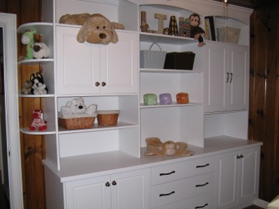 Custom Shelf with baby toys