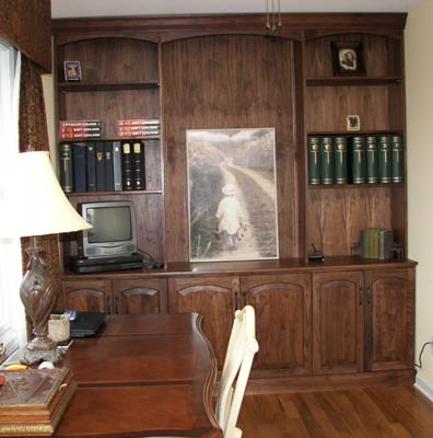 Walnut wall unit