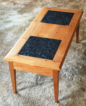 Alder Coffee Table with Granite inserts - Choose your own granite!