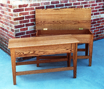 Pair of Storage Benches for counter height dining table